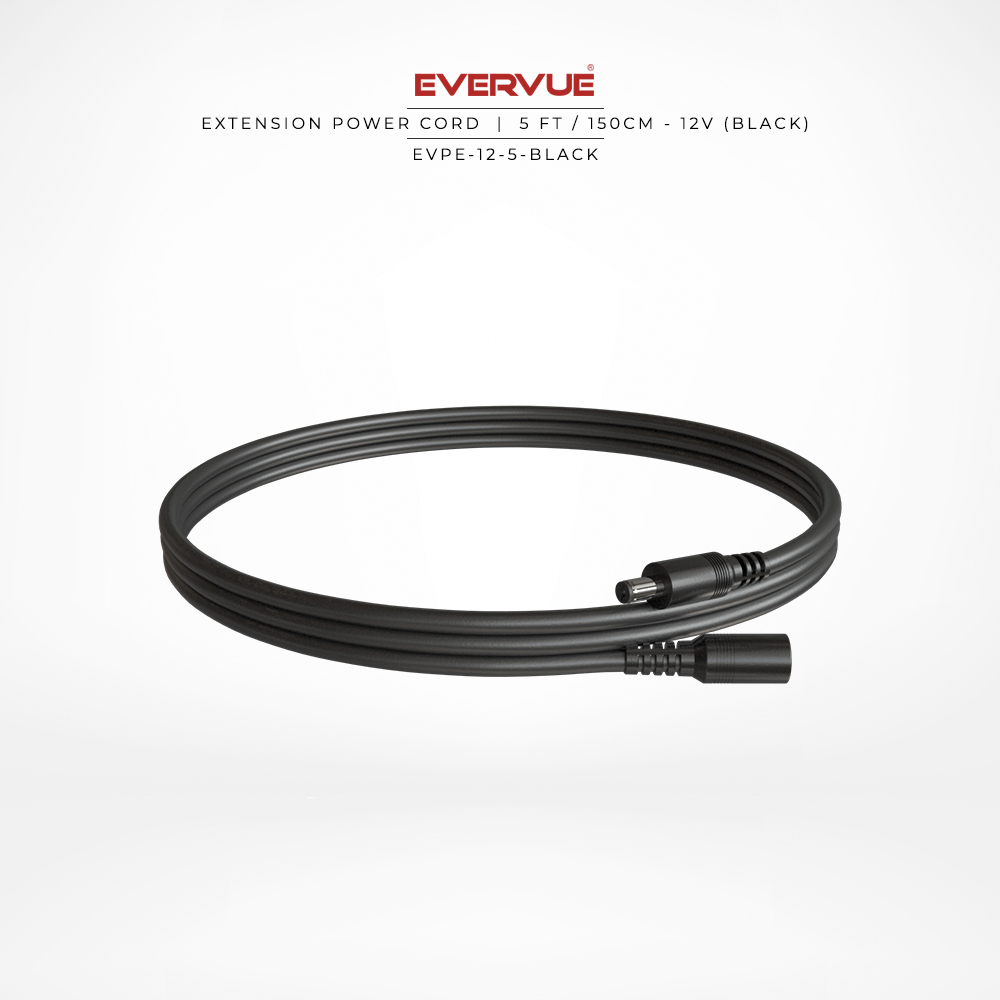 12V – 5ft / 150cm Black – (MVCB-5-32) AED 66.00
