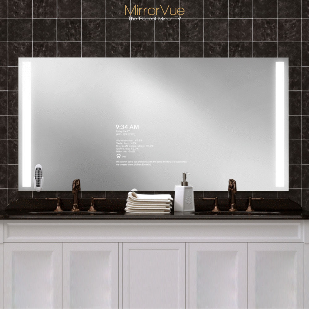 Mirrorvue standard size double sink evervue store - Standard bathroom mirror dimensions ...