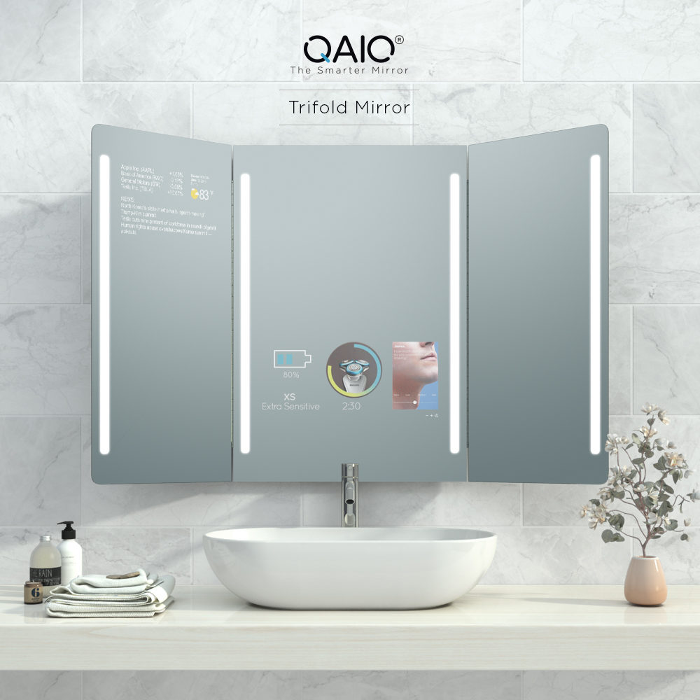 Qaio Trifold Mirror Evervue Usa Inc